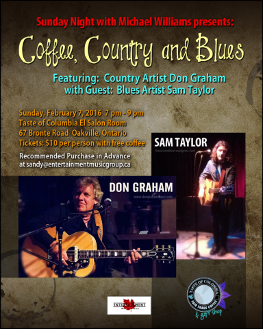 Don Graham And Sam Taylor Coffee, Country and Blues